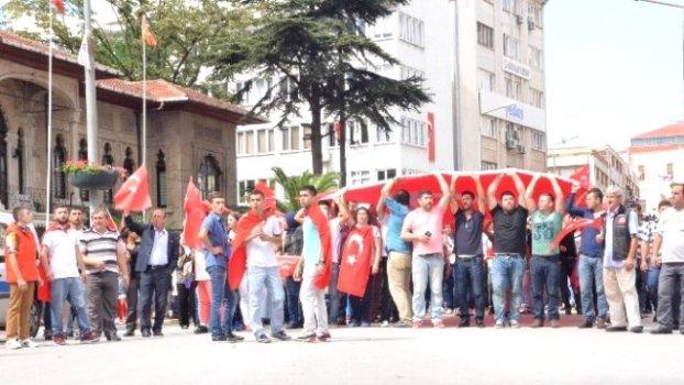 Sinop Şehitler İçin Sokağa Döküldü