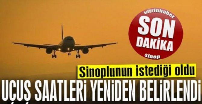 THY, Sinop'un uçuş saatlerini yeniden düzenledi