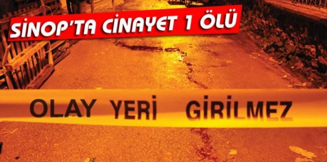 SİNOP'TA CİNAYET 1 ÖLÜ