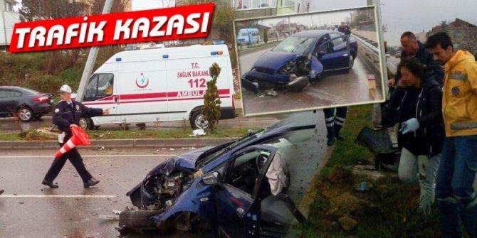 TRAFİK KAZASI, 1 YARALI!
