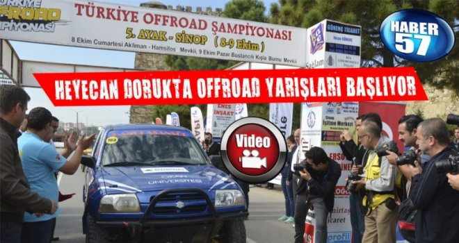 SİNOP'TA OFFROAD HEYECANI BAŞLADI