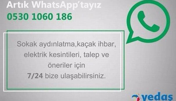 YEDAŞ WhatsApp Uygulamasını Başlattı