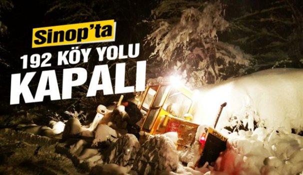 Sinop'ta 192 köy yolu ulaşıma kapandı