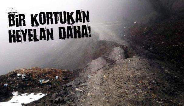Türkeli'de meydana gelen heyelan korkuttu