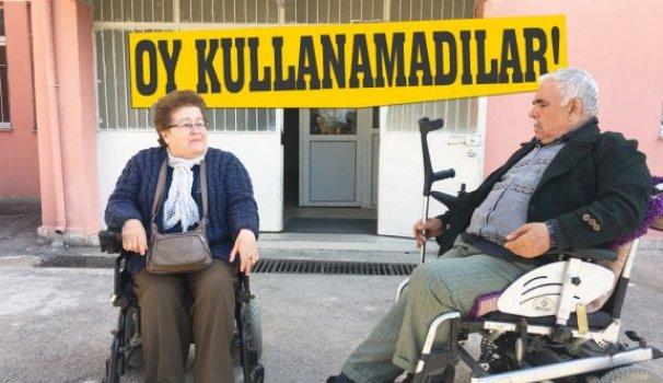 Engelli vatandaşlara seçim engeli