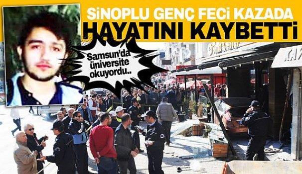 Sinoplu üniversite öğrencisi kaza kurbanı