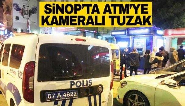 Sinop'ta ATM'deki tuzağı vatandaş fark etti