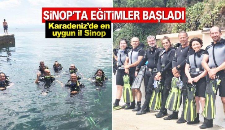 Sinop'ta sportif dalış eğitimleri başladı.