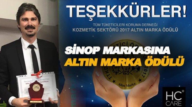 Sinop markasına 'Altın Marka' ödülü