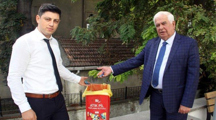 Sinop'ta atık pil toplama kampanyası
