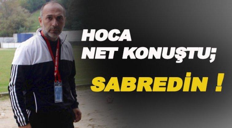 Teknik Direktör Akbayrak; ' Sabredin bambaşka bir Sinopspor izleteceğiz'