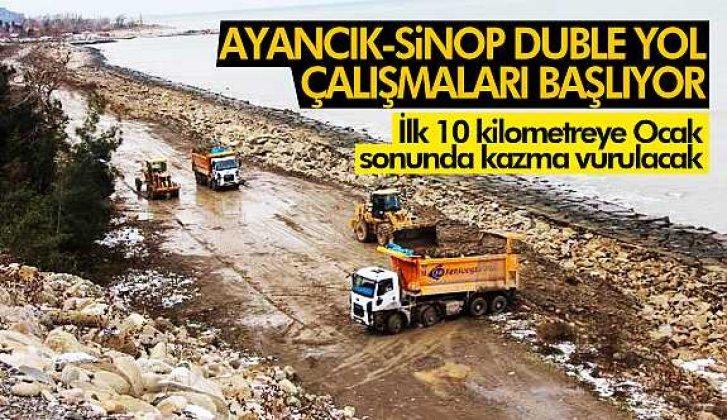 Ayancık Sinop bölünmüş yol çalışmaları başlıyor - Vitrin Haber