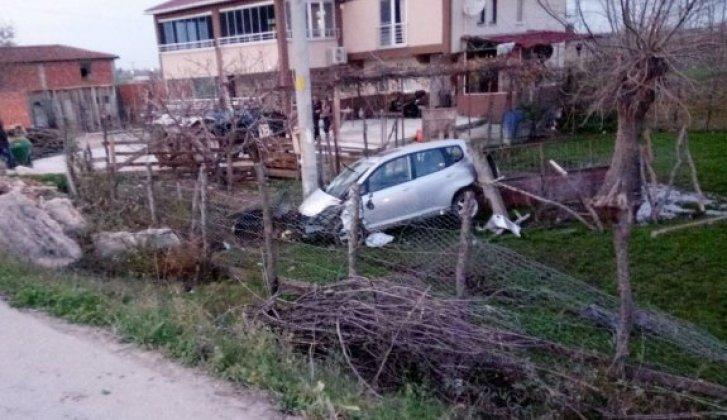 Otomobil bahçeye uçtu: 3 yaralı - Vitrin Haber