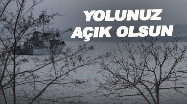 Savaş gemileri Sinop'tan ayrıldı