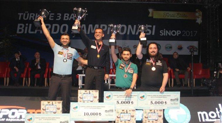 Türkiye 3 Bant Bilardo Şampiyonası Sinop Final Etabıyla Sona Erdi!