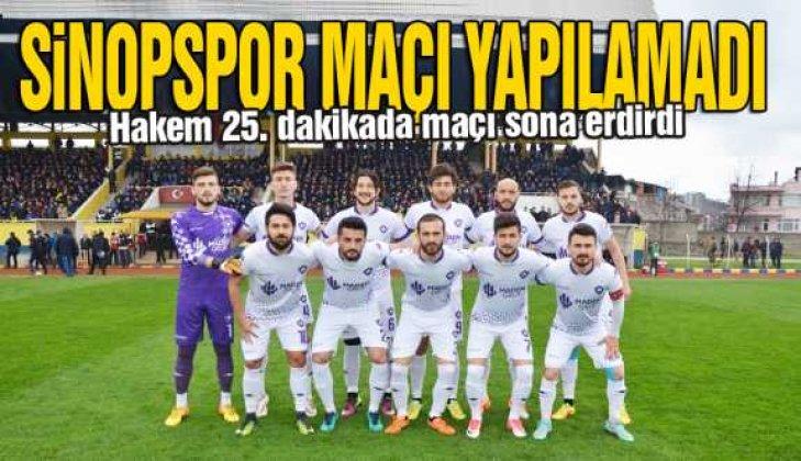 Sinopspor maçına yağmur engeli - Vitrin Haber