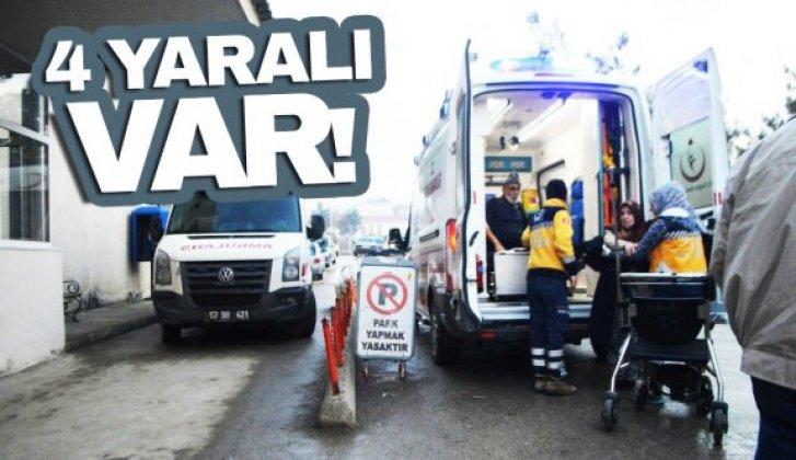 Trafik kazası; 4 yaralı - Vitrin Haber