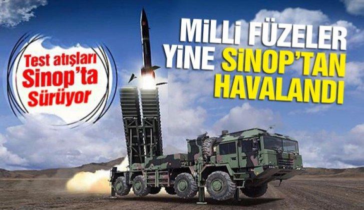 Sinop'ta füze atışları devam ediyor - Vitrin Haber