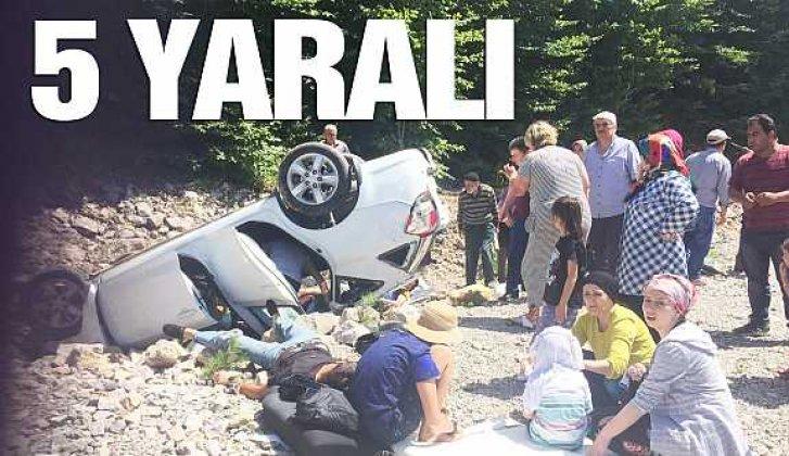 Otomobil şarampole yuvarlandı: 5 yaralı - Vitrin Haber