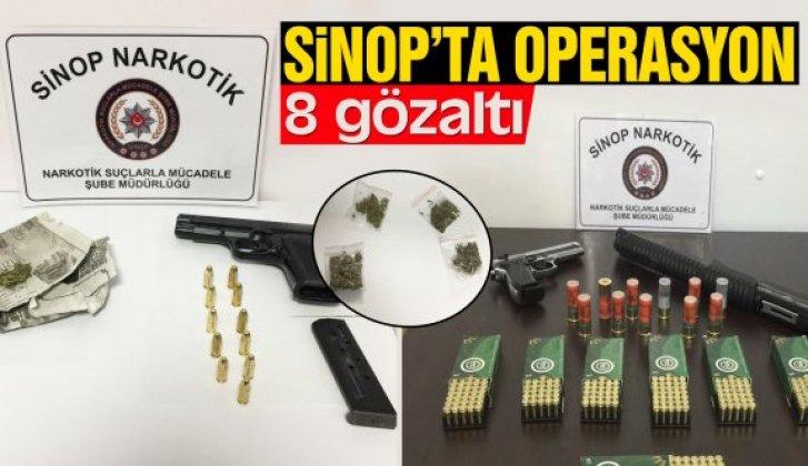 Sinop'ta uyuşturucu operasyonu: 8 gözaltı - Vitrin Haber