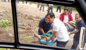 Ormanda yaralanan gencin imdadına ambulans helikopter yetişti