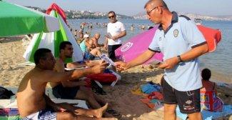 Sinop Emniyet Müdürlüğü'nden Boğulmalara Karşı Broşürlü Uyarı