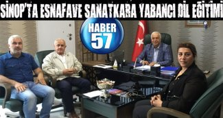 SİNOP'TA ESNAFAVE SANATKARA YABANCI DİL EĞİTİMİ