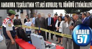 SİNOP'TA JANDARMA TEŞKİLATININ 177.NCİ KURULUŞ YIL DÖNÜMÜ ETKİNLİKLERİ