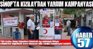 SİNOP'TA KIZILAY'DAN YARDIM KAMPANYASI