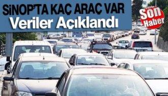Sinop'ta 54 Binin Üzerinde Araç Var