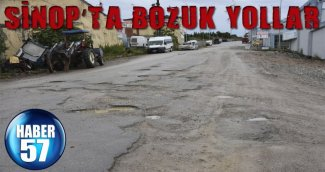 SİNOP'TA BOZUK YOLLAR