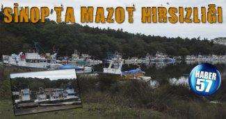 SİNOP'TA MAZOT HIRSIZLIĞI