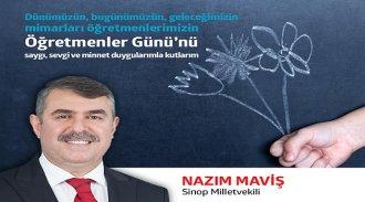 Nazım Maviş'ten Öğretmenler Günü Mesajı