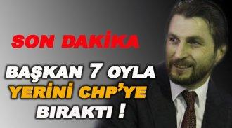 AK Parti İl Başkanı 7 Oyla Yerini CHP'ye Bıraktı