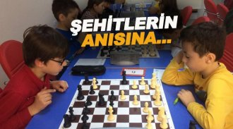 Şehitlerin anısına Satranç turnuvası