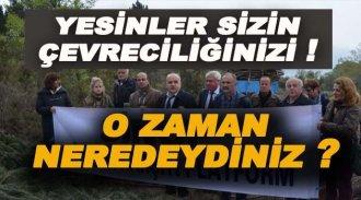 NKP Ağaç Katliamı Yalanını Tekrarladı !