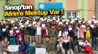 Boyabatlı öğrencilerden Mehmetçik'e mektup