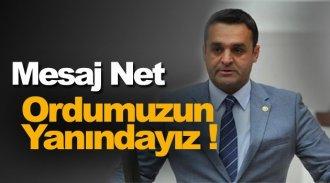 CHP'li Karadeniz; Ordumuzun Yanındayız !