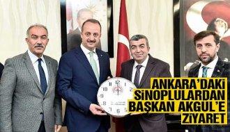 Sinoplulardan Başkan Akgül'e ziyaret - Vitrin Haber
