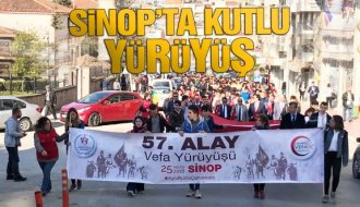Sinop'ta 57. alay yürüyüşü - Vitrin Haber