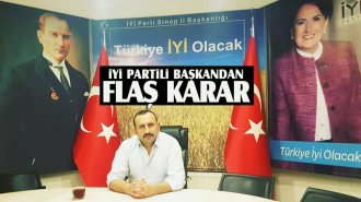 İYİ Parti Sinop Merkez İlçe Başkanı istifa etti - Vitrin Haber