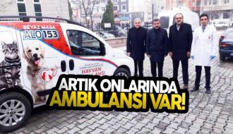 Boyabat'ta hayvan ambulansı hizmeti