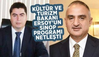 Bakan Mehmet Nuri Ersoy'un Sinop Programı