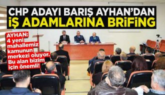 Barış Ayhan Sinop TSO Meclisinde sunum yaptı