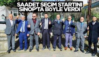 Saadet Partisi Sinop'ta seçim startını verdi