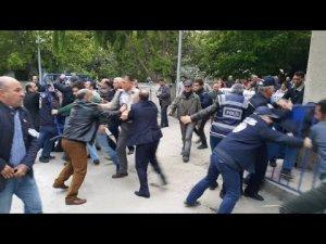 Sinop Nurettin Yıldız konferansı öncesi arbede
