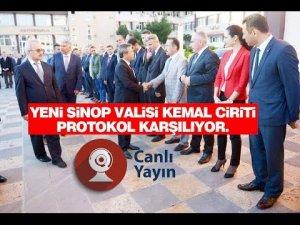 Sinop Valisi Kemal Cirit Göreve Başlıyor CANLI YAYIN